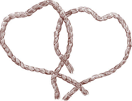 The ropes in the hearts shape