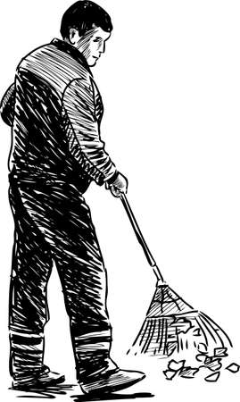 Sketch of a street sweeper