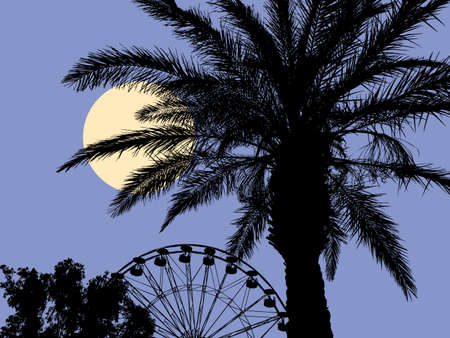 Moonlit night at the resort