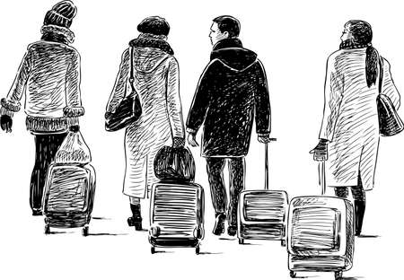 City dwellers go to a trip.