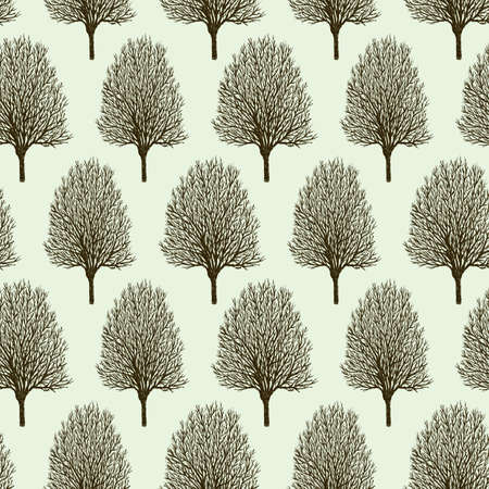 Pattern springtime trees.
