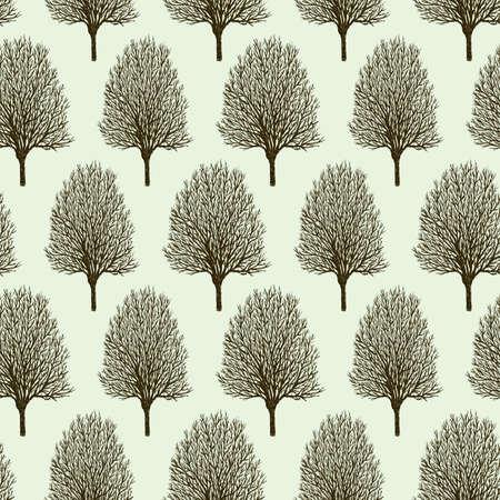 Pattern springtime trees.