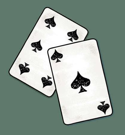 Vector drawing of the playing cards