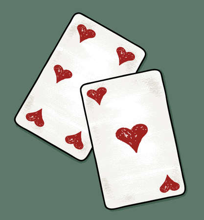 Vector image of the playing cards