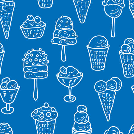 Seamless background from the various ice cream