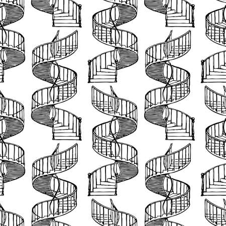 Vector background from  spiral staircases 矢量图像