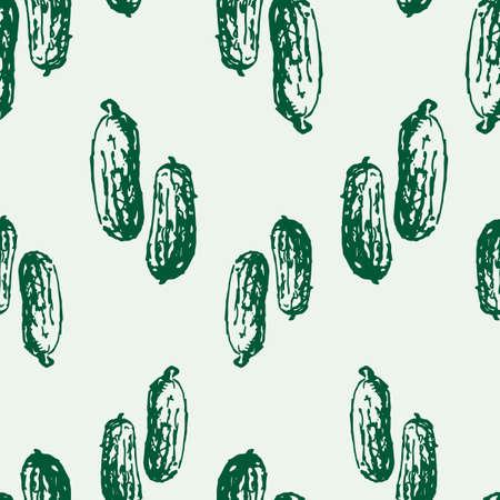 Pattern of drawn cucumbers