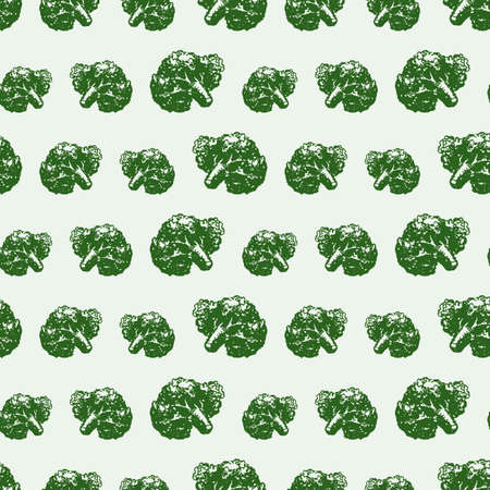 Vector background of ripe broccoli.