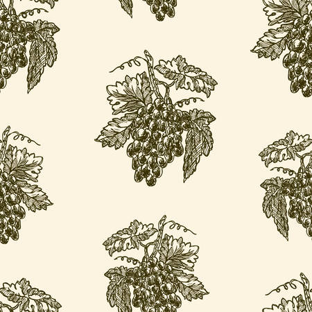seamless background of of grape bunches