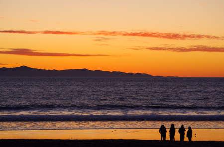 Channel Islands California Sunset Фото со стока