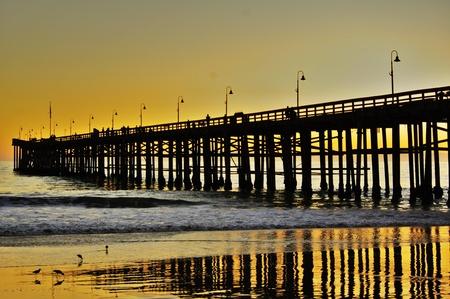 Ventura Pier at sunset Stock Photo - 8683490