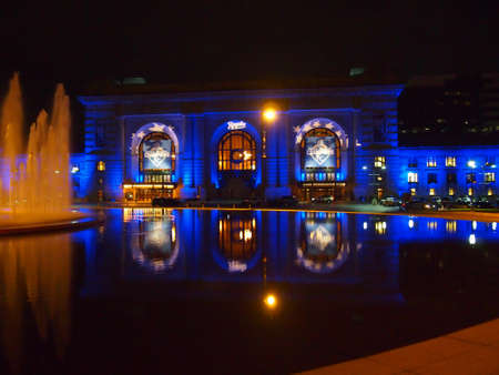 the series: Kanas City with blue fountain for World Series