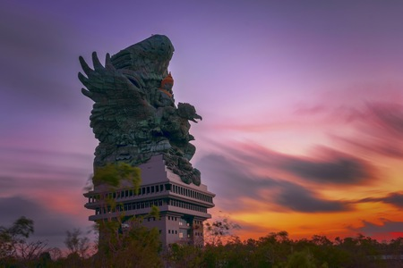 Ungasan, Bali / Indonesia - August 12, 2018: Statue Garuda Wisnu Kencana Cultural Park. Designed to be the Indonesia's tallest statue, Garuda Wisnu Kencana was inspired by Hindu mythology