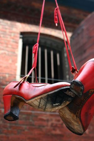 dangling: Dangling Red Shoes
