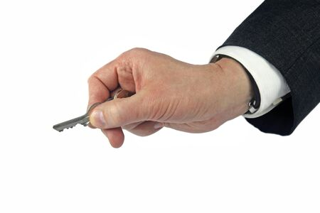 business hand holding key photo