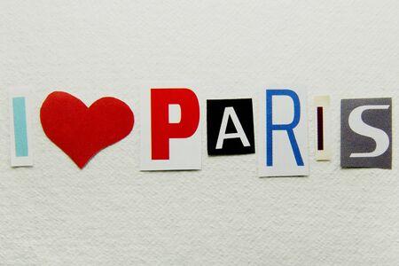 i love paris sign  photo