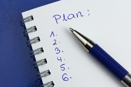rédaction d'un plan d'action