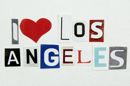 i love los angeles sign photo