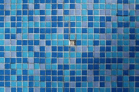 blue mosaic with one missing element  photo