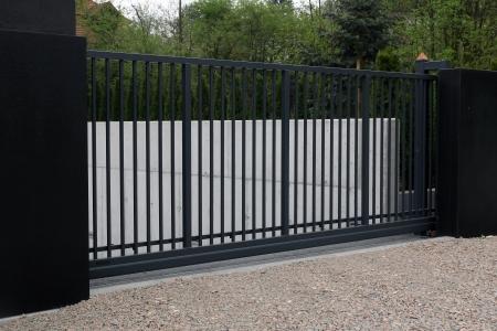 black modern gate   Stock Photo
