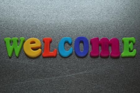 inox: welcome  Stock Photo