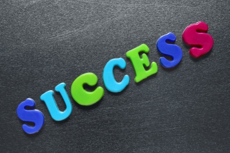 inox: word success spelled out using colored fridge magnets  Stock Photo