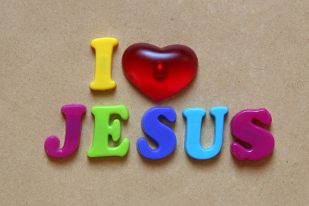love words: i love jesus sign Stock Photo