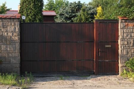 wooden gate  Reklamní fotografie