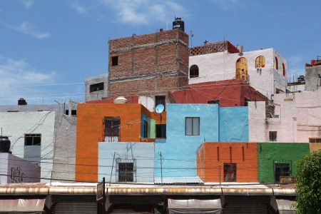 Beautiful colorful mexican architecture