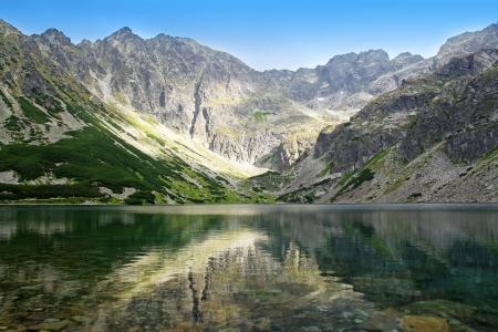 tatra: View of beautiful Black Pond Gasienicowy in Tatra Mountains, Poland