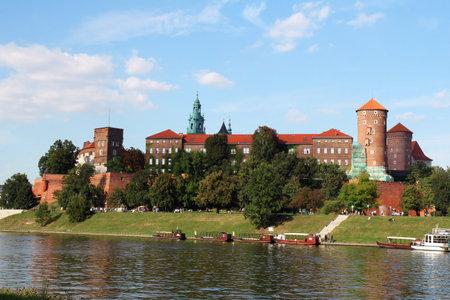 The Gothic Wawel Castle in Krakow, Poland