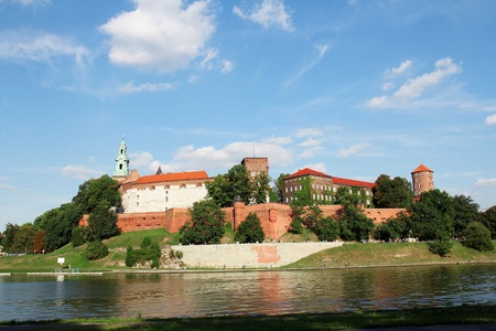 Wawel Royal Castle and Vistula River in Krakow, Poland
