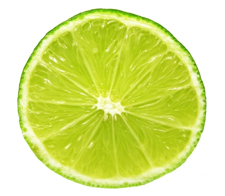 closeup of lime slice