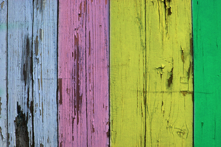 Colorful wooden boards background photo