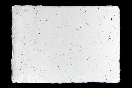 Handmade paper on black  photo