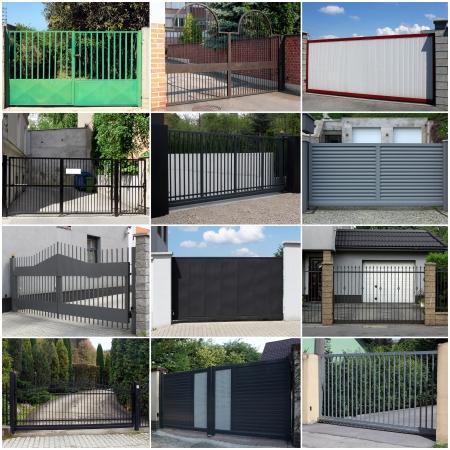 Collection de portes métalliques Banque d'images