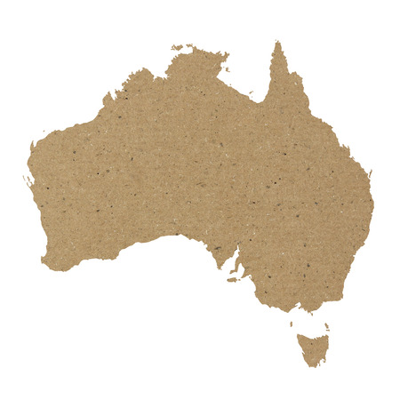 Australia map with carton paper texture photo