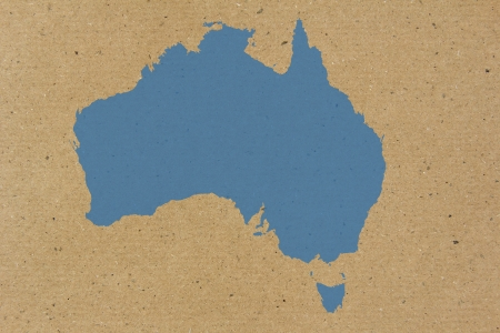Australia map on carton background photo