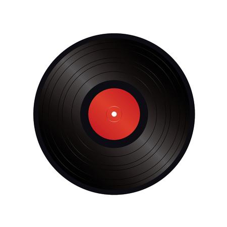 black vinyl vector  Vector