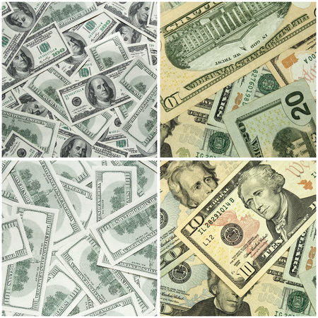 set of dollars background photo