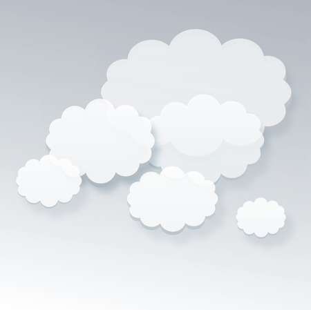 white clouds on grey  Vector