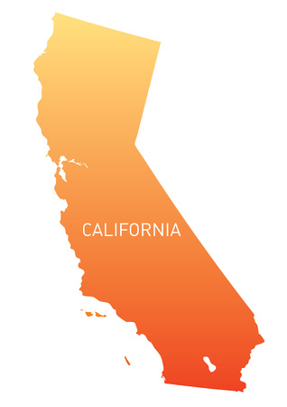 orange map of California Vector