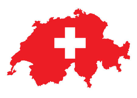 flag and map of Switzerland