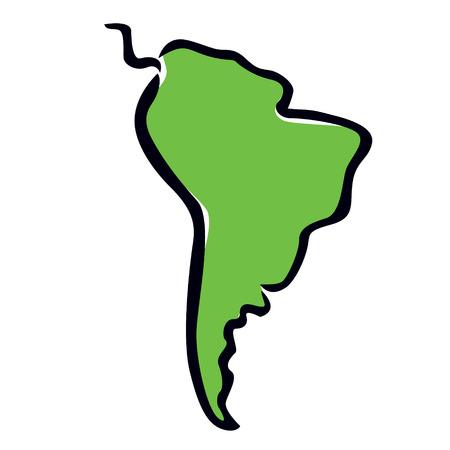 abstrait carte de l'Amérique du Sud Vecteurs