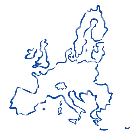 abstract map of European Union