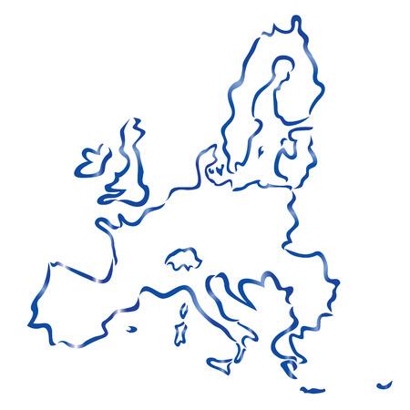carte abstraite de l'Union européenne