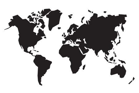 黒の抽象的な世界地図  イラスト・ベクター素材