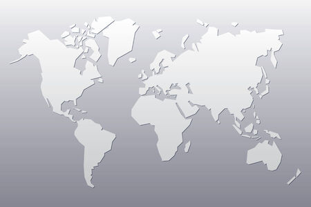 Abstract Map Of The World.Grey Abstract Map Of The World Royalty Free Cliparts Vectors And
