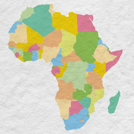 Colorful Africa on white paper texture photo
