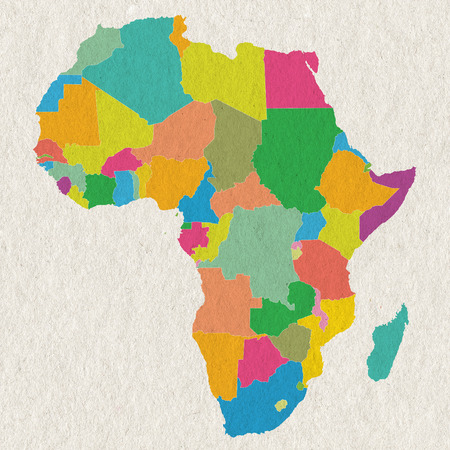 Colorful Africa on paper texture photo